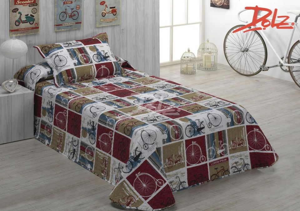 Colcha bout cycles colchas y edredones ropa de cama ropa de casa ropa de hogar - Colchas y edredones ...